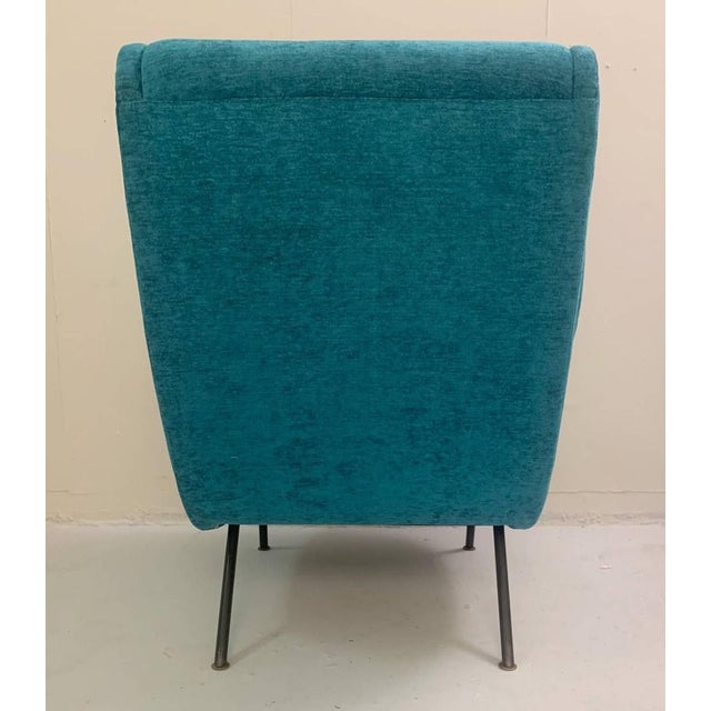 Mid-Century Modern 1950s Italian Armchairs- A Pair For Sale - Image 3 of 6