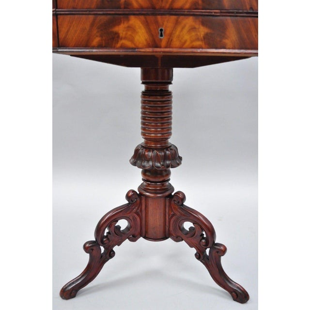 Antique Victorian Sewing Stand Side Table For Sale - Image 10 of 12