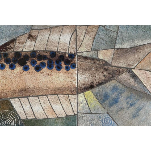 Mid-Century Framed Fish Tile - Image 6 of 7