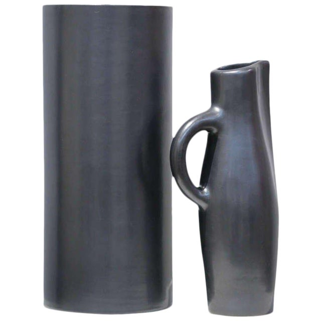 Georges Jouve Ceramic Vase and Pitcher For Sale