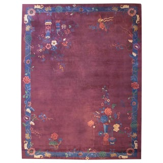 Chinese Art Deco Rug - 9′ × 12′ For Sale