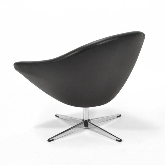 Overman Black Swivel Lounge Chair For Sale In Chicago - Image 6 of 9