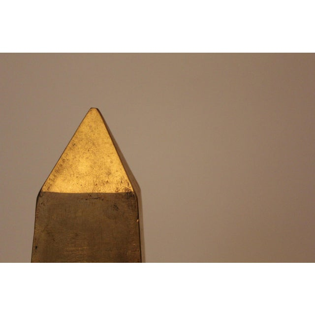 Early 21st Century Modern Gold-Leafed Steel Obelisk For Sale - Image 5 of 6