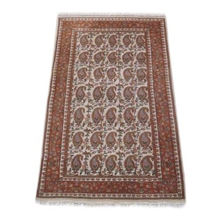 1960s Vintage Persian Area Rug - 2′11″ × 5′7″ For Sale