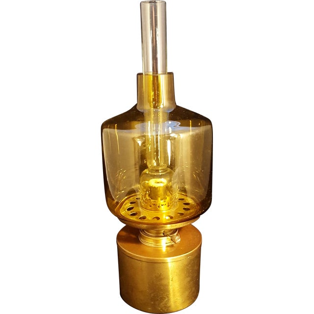 Blue Mid-Century Hans Agne Jakobsson Modernist Swedish Oil Lamp For Sale - Image 8 of 8