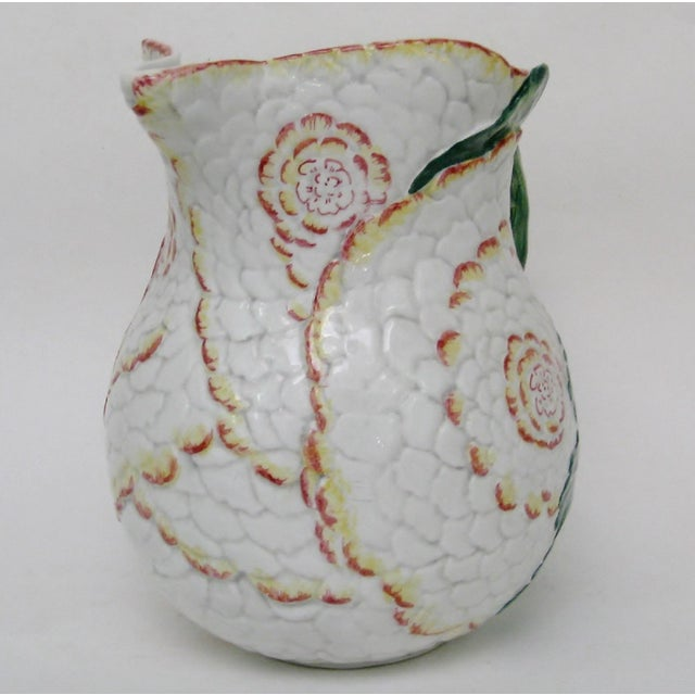 Italian Majolica Pitcher For Sale - Image 4 of 10