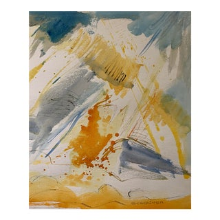 Jason Schoener Abstract Watercolor For Sale