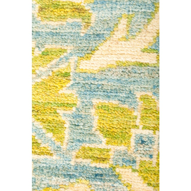 """Eclectic Hand Knotted Area Rug - 4' 1"""" X 6' 2"""" - Image 3 of 4"""