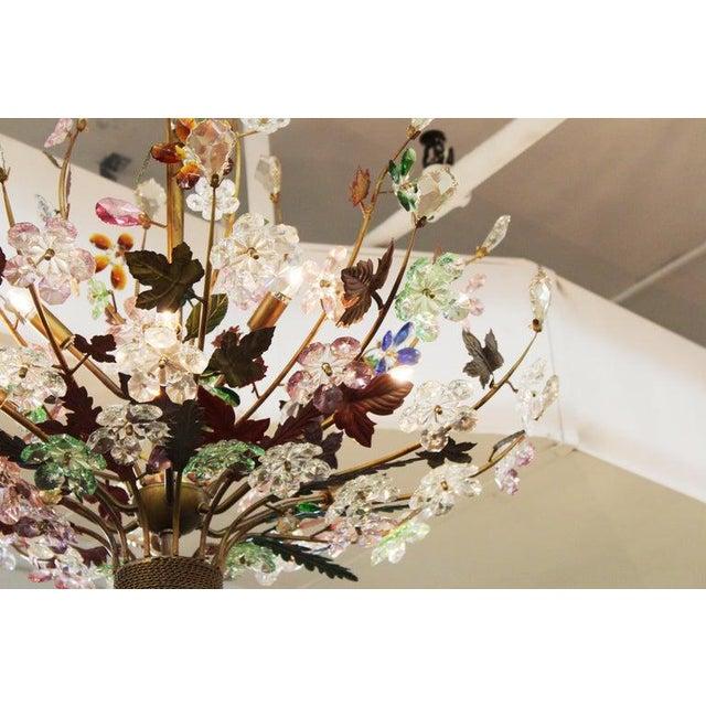 Mid-Century Modern 1970s Italian Mid-Century Modern Murano Glass Flower Bouquet Chandelier For Sale - Image 3 of 13