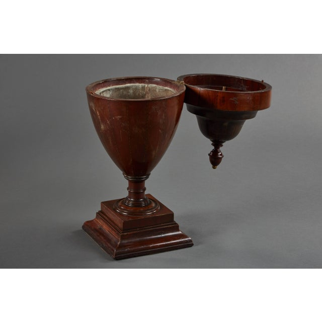 Rare Pair of Large Walnut Late 18th Century English Wine Coolers For Sale - Image 4 of 10