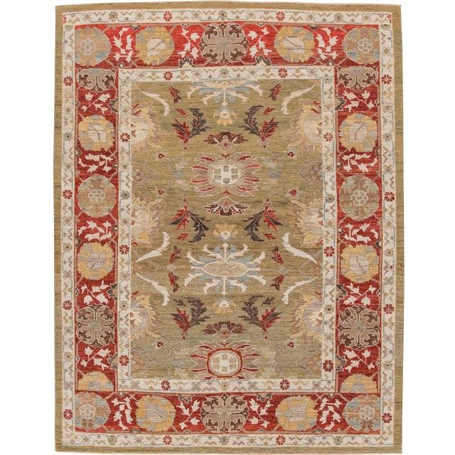 "Wool Sultanabad Rug - 8' x 10'3"" For Sale"