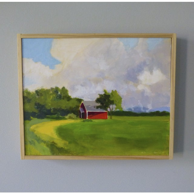 Original Painting - Red House in Vermont - Image 3 of 5