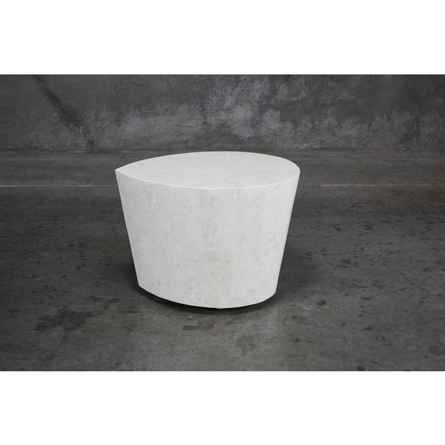"""1990s Contemporary White Freeform Tessellated Stone """"Hampton"""" Side Table For Sale - Image 9 of 13"""