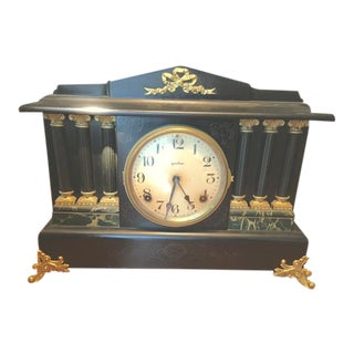 Late 19th Century Antique E. Ingraham Company Mantel Clock For Sale