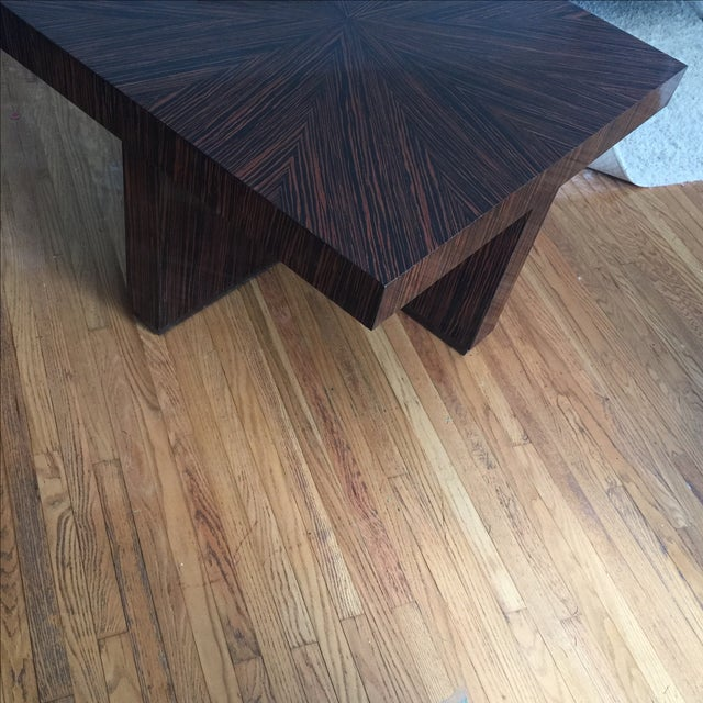 Ribboned Wood Coffee Table - Image 4 of 5