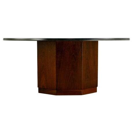 Fred Kemp Walnut & Slate Coffee Table - Image 1 of 3