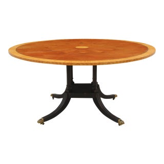 Duncan Phyfe Style Round Dining Table For Sale
