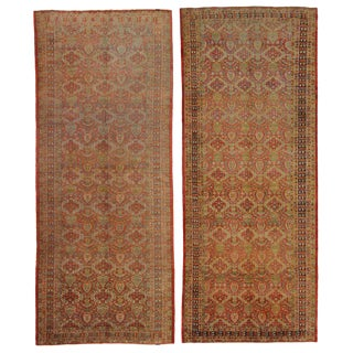 Antique Turkish Oushak Runners - A Pair For Sale