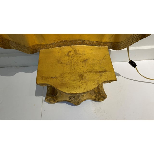 1940s Italian Gold Leaf Niche Bracket, Illuminated For Sale In West Palm - Image 6 of 13