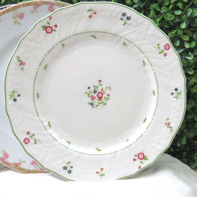 Mid 20th Century Vintage Mismatched Fine China Luncheon Plates - Set of 4 For Sale - Image 5 of 8