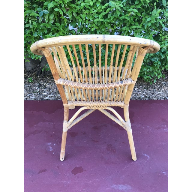 1960s 1960s Vintage Bamboo Arm Chairs- Set of 4 For Sale - Image 5 of 13