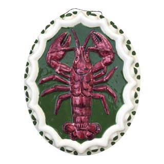 Trompe L'oeil Italian Lobster Wall Plaque