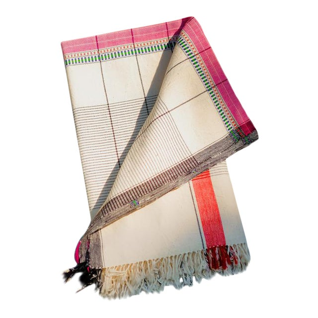 Rooma Unbleached Organic Cotton Throw Blanket For Sale