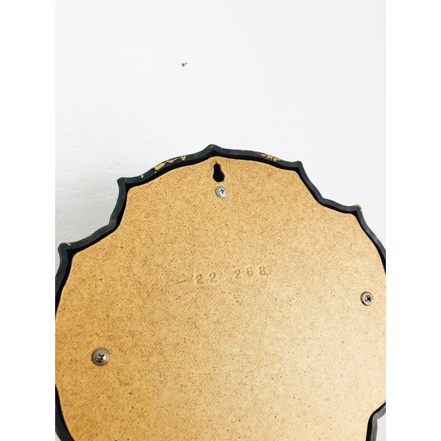 Mid 20th Century Vintage Petite Faux Gilt Wood Round Mirror For Sale - Image 5 of 6