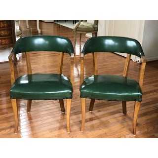 Mid Century Modern Danish Style Barrel Accent Chairs- A Pair Preview