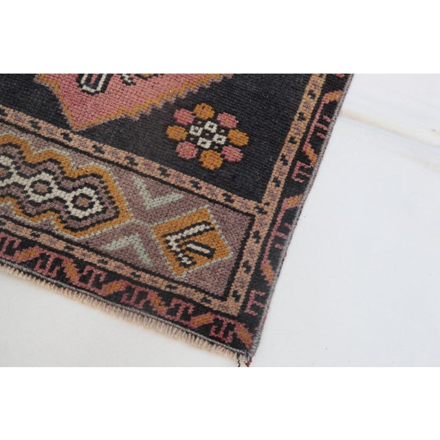 """1960s Turkish Pure Wool Carpet - 43"""" X 21"""" For Sale - Image 10 of 11"""