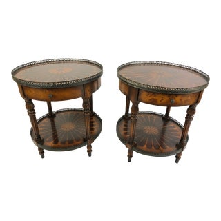 1990s Traditional Theodore Alexander Two-Tier Side Tables - a Pair For Sale