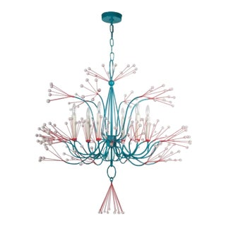 Tony Duquette Splashing Water Chandelier For Sale