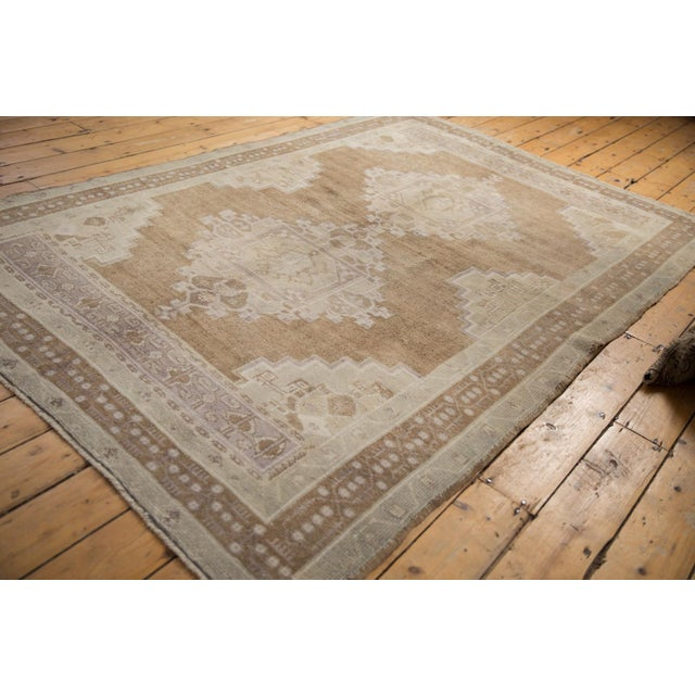 """Shabby Chic Vintage Distressed Oushak Carpet - 5'7"""" X 8'3"""" For Sale - Image 3 of 11"""