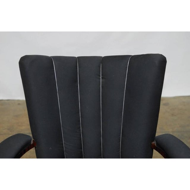 French Art Deco Macassar Club Chairs - A Pair For Sale - Image 7 of 10