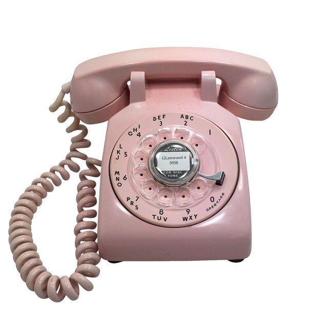 Western Electric Model 500 Pink Rotary Dial Telephone - Image 1 of 9