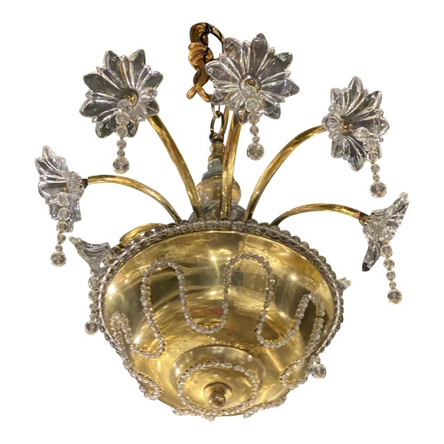 1930s French Bagues Chandelier For Sale