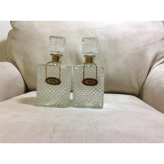 Scotch & Rye Cut Glass Decanters - A Pair - Image 2 of 7