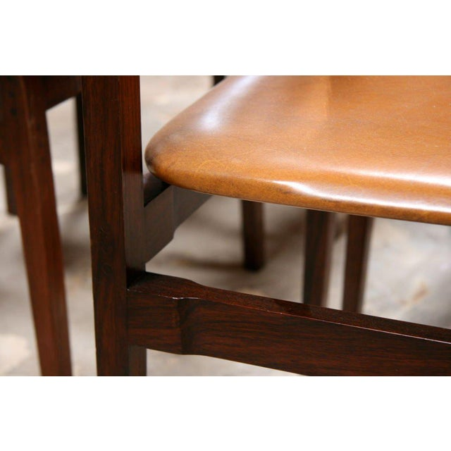Rosewood Six Gianfranco Frattini Chairs For Sale - Image 7 of 11