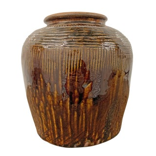 Early 20th Century Chinese Glazed Pot For Sale