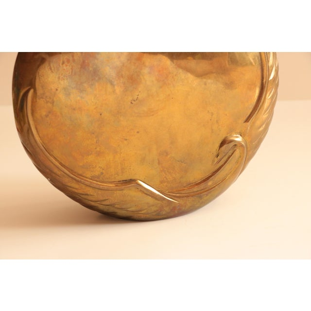 Dara International Brass Swan Vase For Sale - Image 5 of 8