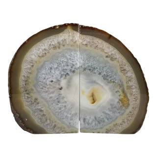 Natural Agate Bookends - A Pair