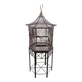 Pagoda Style Metal Birdcage Terrarium For Sale