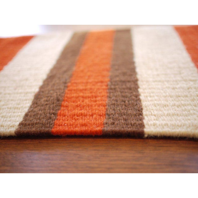 Vintage Woven Table Runner For Sale - Image 4 of 6