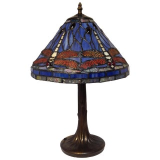 Tiffany-Style Dragonfly Lamp For Sale