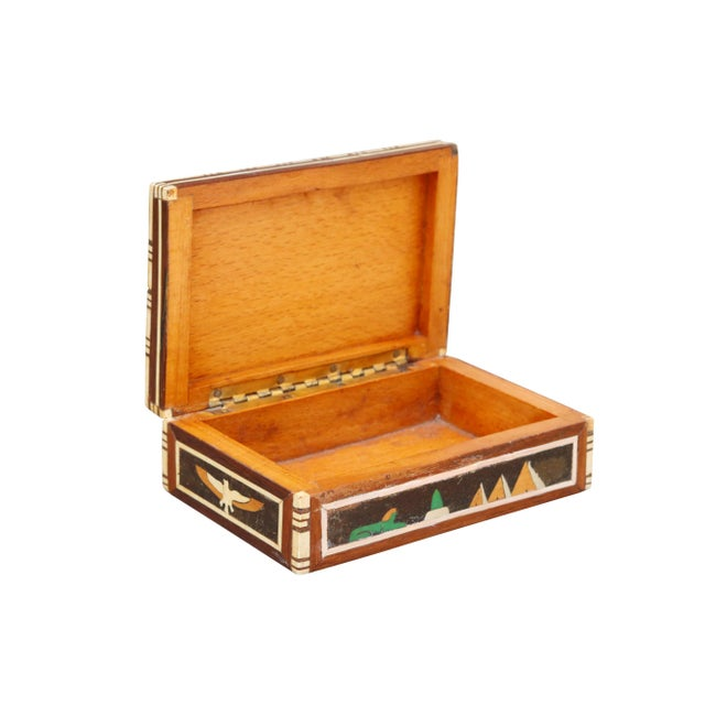 Mid 20th Century Decorative Inlaid Trinket Box For Sale - Image 5 of 7