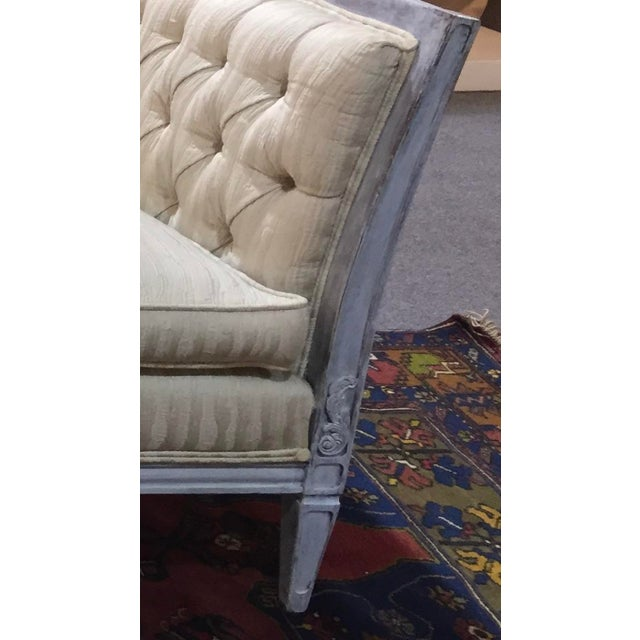 Silk Late 20th Century Vintage Custom Swedish Gustavian Style Sofa For Sale - Image 7 of 13