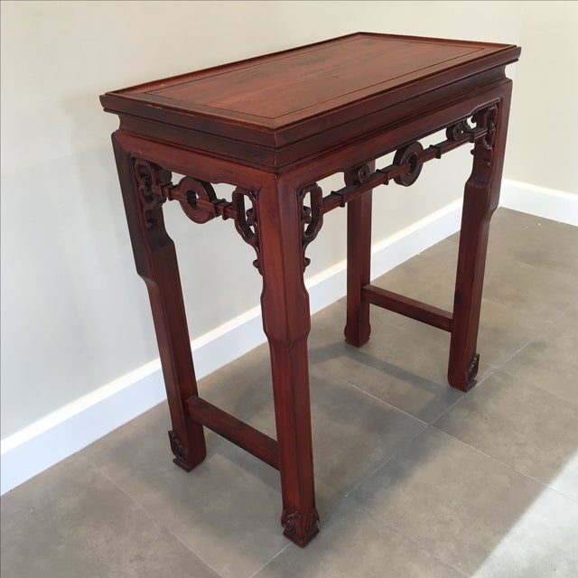 Carved Chinese Rosewood Alter Table For Sale - Image 4 of 11
