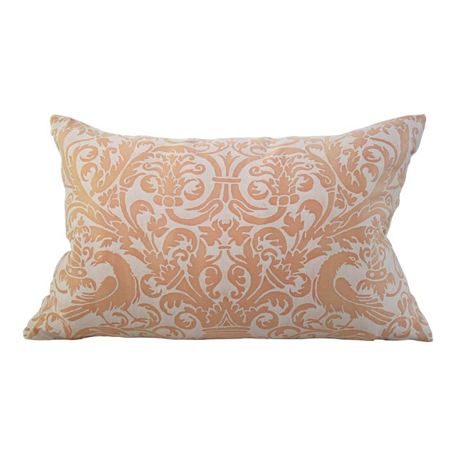 Neoclassical Revival Fortuny Uccelli Pillow - 22ʺW × 16ʺH For Sale