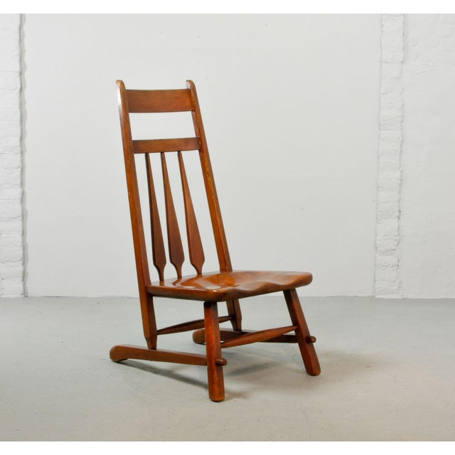 Exceptional Early 20th-Century Design Solid Maplewood Spindleback ...