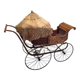 Victorian Wicker Baby Carriage